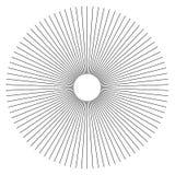 Líneas radiales elemento geométrico del extracto Rayos, irradiando la tira libre illustration