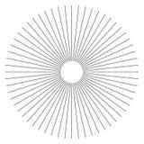 Líneas radiales elemento geométrico del extracto Rayos, irradiando la tira stock de ilustración