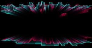 Líneas rectangulares geométricas móviles del extracto 3D