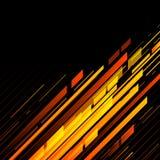 Líneas retras abstractas de la tecnología en perspectiva Foto de archivo