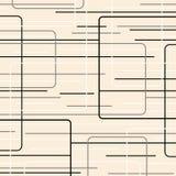 Líneas retras negras y blancas Fotografía de archivo