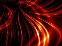 Líneas rojas abstractas ilustración del vector