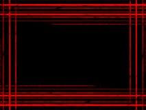 Líneas rojas abstractas en un marco azul marino del fondo Modelo de la línea de la onda imagen de archivo