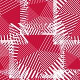 Líneas rojas abstractas modelo inconsútil Wallpape psicodélico del vector Fotos de archivo