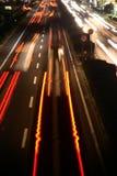Líneas rojas en la calle Fotografía de archivo
