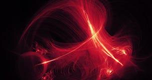 Líneas rojas y amarillas abstractas curvas y partículas fotografía de archivo libre de regalías