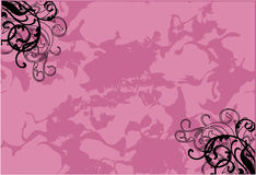 Líneas rosadas del estilo libre illustration