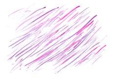 Líneas rosadas y púrpuras del extracto de la acuarela Fotografía de archivo libre de regalías