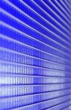 líneas spiry, rejilla azul del metal Fotos de archivo