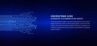 líneas tecnológicas azules fondo, líneas de la conexión ilustración del vector