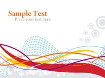Líneas texto de las ondas de la muestra Imagenes de archivo