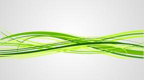 Líneas Verdes abstractas del vector Imagen de archivo libre de regalías