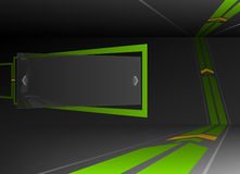 Líneas Verdes en las paredes Imágenes de archivo libres de regalías
