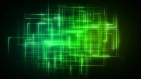 Líneas Verdes que forman formas geométricas stock de ilustración