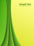 Líneas verdes y amarillas Foto de archivo