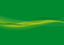 Líneas Verdes y bground de los puntos Fotografía de archivo libre de regalías