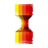 líneas verticales diseño de la perspectiva de los extractos coloridos ilustración del vector