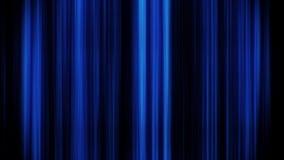 Líneas verticales que brillan intensamente fondo del azul del gráfico del movimiento del lazo