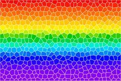 Líneas vidrio manchado del arco iris Fotografía de archivo