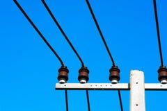 Líneas voltaje de la potencia Imagen de archivo