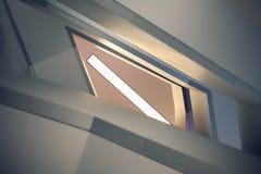 Líneas y ángulos de la escalera moderna del embudo Fotografía de archivo libre de regalías