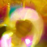 Líneas y círculos de Swirly en fondo oscuro Imágenes de archivo libres de regalías