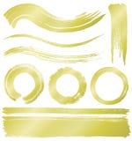 Líneas y círculos del movimiento del cepillo Foto de archivo libre de regalías