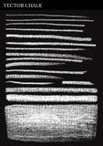 Líneas y movimientos de tiza del vector Imagenes de archivo