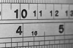 Líneas y números Fotos de archivo libres de regalías