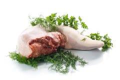 Língua de carne crua Imagens de Stock
