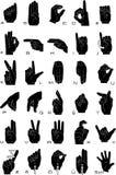 Língua de sinal Fotografia de Stock Royalty Free