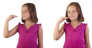 A língua de sinal come fotografia de stock royalty free