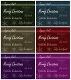 Línguas do múltiplo do cartão do Xmas Fotografia de Stock Royalty Free