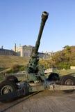 Lío de la artillería WW2 y del oficial en el castillo de Dover Imágenes de archivo libres de regalías