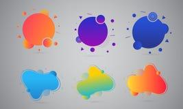Líquido colorido o extractos flúidos del arte en gris stock de ilustración
