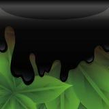 Líquido da contaminação do petróleo ilustração stock