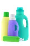 Líquido de lavagem, detergente para a roupa, descorante Foto de Stock Royalty Free