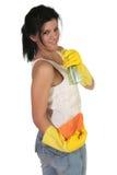 Líquido de limpeza brincalhão Fotografia de Stock Royalty Free