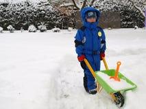 Líquido de limpeza da neve Fotos de Stock Royalty Free