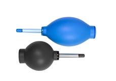 Líquido de limpeza de borracha azul e cinzento da poeira da bomba do ventilador de ar Imagens de Stock Royalty Free