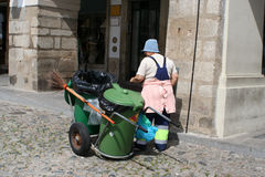 Líquido de limpeza de rua Fotos de Stock Royalty Free