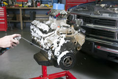 Líquido de limpeza do motor Imagem de Stock
