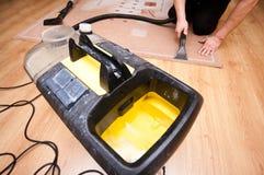 Líquido de limpeza profissional do tapete Imagens de Stock
