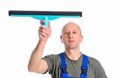 Líquido de limpeza profissional masculino novo Fotografia de Stock Royalty Free