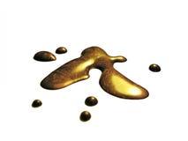 Líquido del oro Imagen de archivo libre de regalías