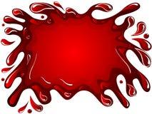 Líquido derramado rojo ilustración del vector