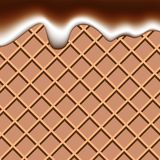 Líquido do chocolate e do leite do waffle que acena o vect abstrato do fundo ilustração do vetor