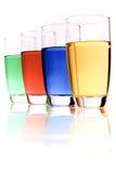 Líquidos coloridos Fotografia de Stock