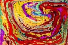 Líquidos coloridos de la perspectiva del pájaro imagen de archivo