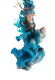 Líquidos coloridos subacuáticos Fotografía de archivo libre de regalías